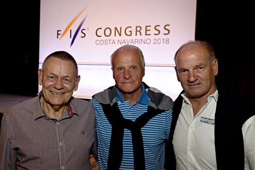 A relaxed Crans-Montana delegation at the announcement of the host site for the 2023 World Championships. At the 2020 FIS Congress, they will have to defend their bid for 2025.